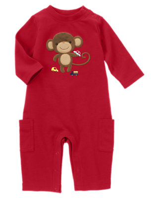 Red Monkey Car One-Piece by Gymboree