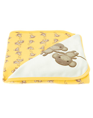 Baby Ivory Monkey Blanket by Gymboree