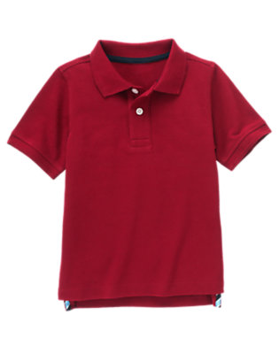Maroon Red Uniform Polo Shirt by Gymboree