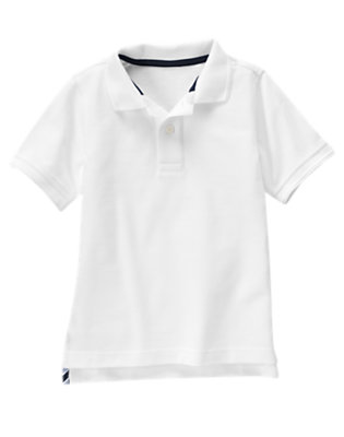 Boys White Uniform Polo Shirt by Gymboree