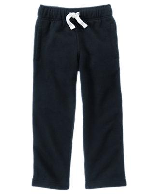 Gym Navy Uniform Fleece Pant by Gymboree