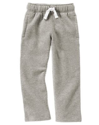 Heather Grey Uniform Fleece Pant by Gymboree