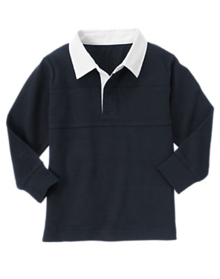 Gym Navy Uniform Rugby Shirt by Gymboree