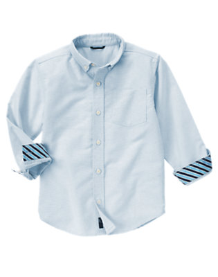 Pale Blue Uniform Oxford Shirt by Gymboree