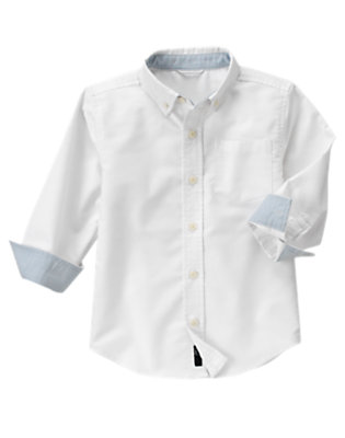 White Uniform Oxford Shirt by Gymboree