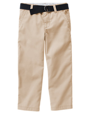 Khaki Uniform Belted Pant by Gymboree