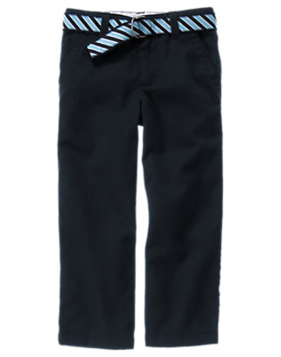 Gym Navy Uniform Stripe Belted Pant by Gymboree