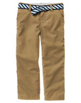 Camel Uniform Stripe Belted Pant by Gymboree