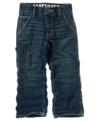 Boys Medium Wash Denim Carpenter Jean by Gymboree