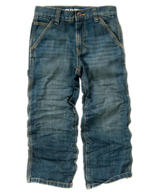 Light Wash Denim Carpenter Jean by Gymboree