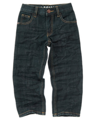 Boys Dark Wash Denim Classic Jean by Gymboree