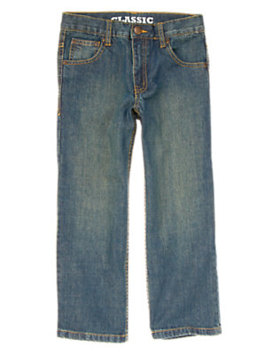 Boys Medium Wash Denim Classic Jean by Gymboree