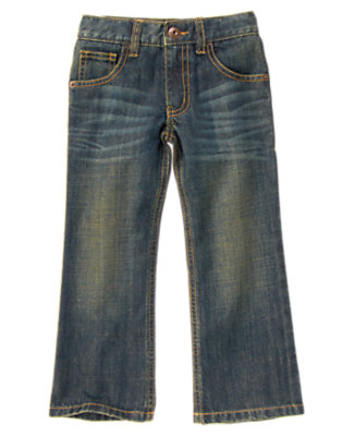 Boys Dark Wash Denim Bootcut Jean by Gymboree