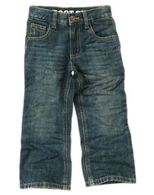 Boys Light Wash Denim Bootcut Jean by Gymboree