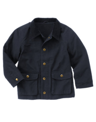 Boys Gym Navy Barn Jacket by Gymboree