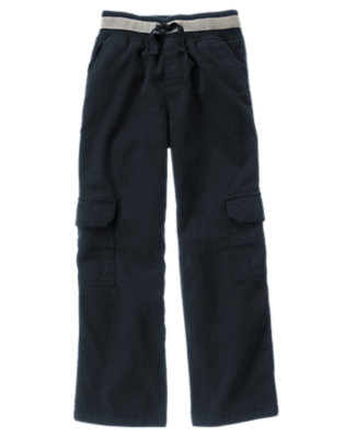 Gym Navy Pull-On Cargo Pant by Gymboree