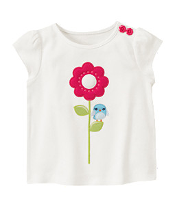 Big Flower Birdie Tee