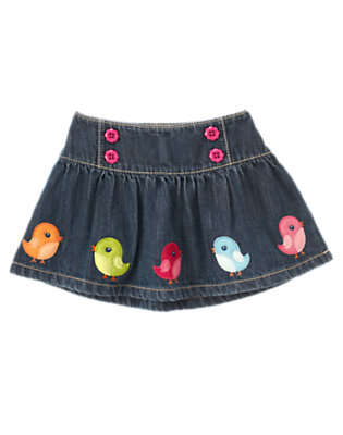 Denim Bird Jean Skirt by Gymboree
