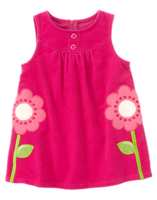 Toddler Girls Bright Berry Flower Corduroy Jumper by Gymboree