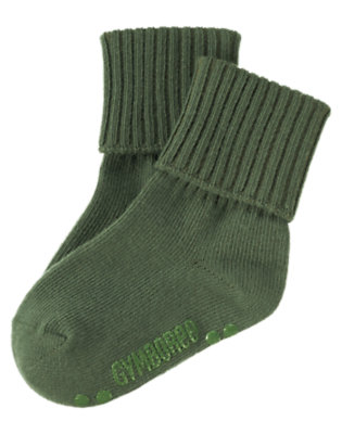 Toddler Boys Forest Green Foldover Sock by Gymboree