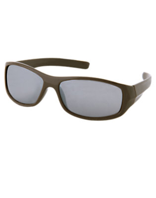 Boys Chocolate Brown Rectangular Sunglasses by Gymboree