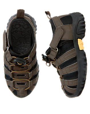 Boys Chocolate Brown Trail Sneaker by Gymboree