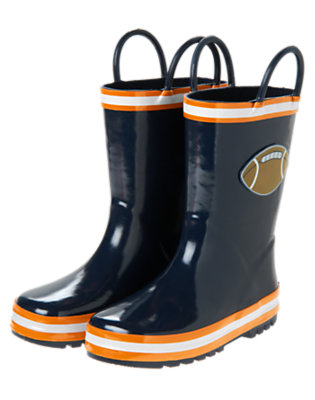 Gym Navy Football Rainboot by Gymboree
