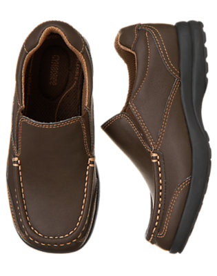 Boys Chocolate Brown Slip-On Loafer by Gymboree