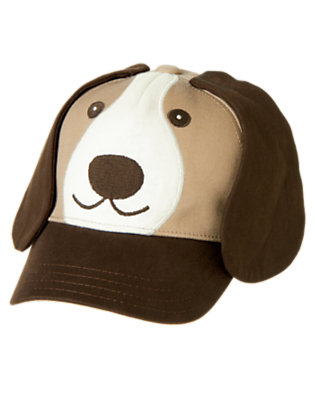 Toddler Boys Khaki Puppy Baseball Hat by Gymboree