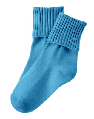 Toddler Boys Trailblazer Blue Foldover Sock by Gymboree