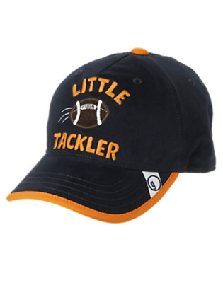 Toddler Boys Gym Navy Little Tackler Football Cap by Gymboree