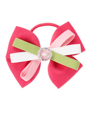 Pretty Pink Gem Button Bow Pony Holder by Gymboree