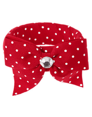 Cherry Red Mini Dot Gem Bow Mini Dot Bangle by Gymboree