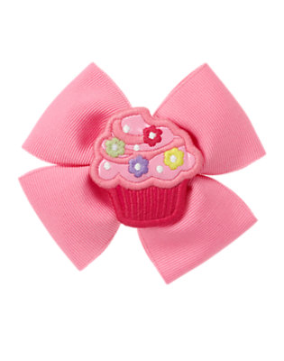 Toddler Girls Blossom Pink Birthday Cupcake Bow Hair Clip by Gymboree