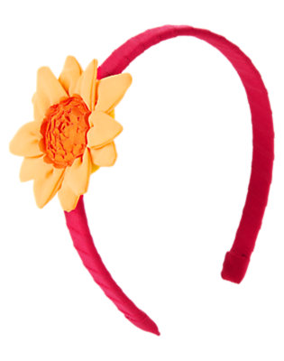 Fuchsia Pink Sunflower Grosgrain Headband by Gymboree