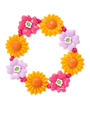 Girls Fuchsia Pink Sunflower Bracelet by Gymboree
