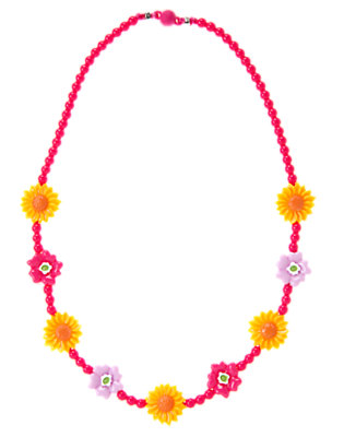 Fuchsia Pink Sunflower Bead Necklace by Gymboree