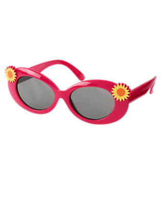 Girls Fuchsia Pink Sunflower Sunglasses by Gymboree