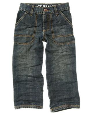 Boys Denim Stitched Pocket Jean by Gymboree