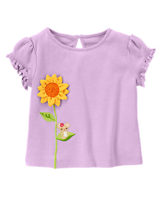 Violet Purple Little Mouse Sunflower Tee by Gymboree