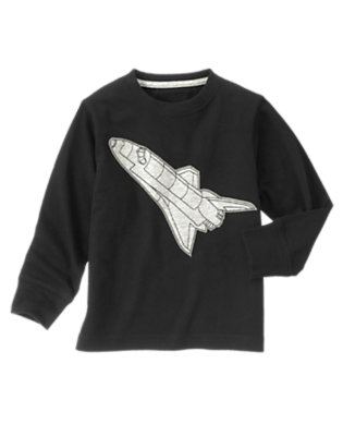 Black Space Shuttle Tee by Gymboree