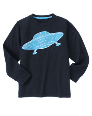 Dark Navy UFO Tee by Gymboree