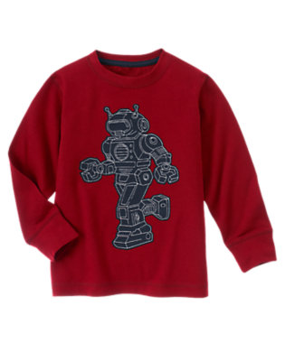 Active Red Robot Tee by Gymboree