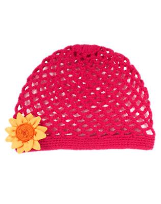 Fuchsia Pink Sunflower Crochet Hat by Gymboree
