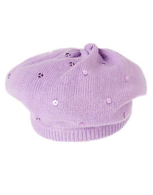 Girls Violet Purple Sequin Sweater Beret by Gymboree