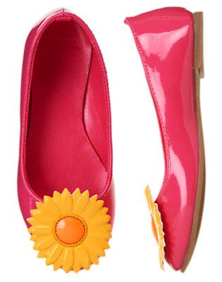 Fuchsia Pink Sunflower Patent Ballet Flat by Gymboree