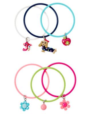 Girls Sky Blue Flower Friends Bangle Bracelet Six-Pack by Gymboree