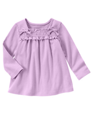 Violet Purple Smocked Long Sleeve Top by Gymboree