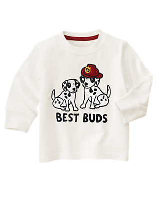 Toddler Boys Ivory Best Buds Tee by Gymboree