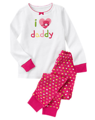 Fuchsia Pink I (Heart) Daddy Two-Piece Gymmies® by Gymboree